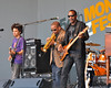 MONTEREY, CA-SEPTEMBER 17: Terence Blanchard sits in with Dumpstaphunk at the Monterey Jazz Festival in Monterey, CA on September 17, 2011. (L-R): Ian Neville, Terence Blanchard, Tony Hall.  (Photo by Clayton Call/Redferns)