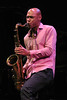 MONTEREY, CA-SEPTEMBER 17: Joshua Redman performs with James Farm at the Monterey Jazz Festival in Monterey, CA on September 17, 2011. (Photo by Clayton Call/Redferns)