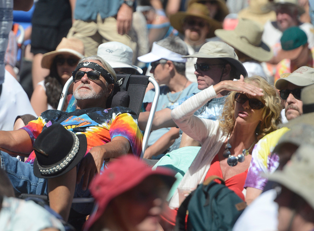 . Fans bask in the sun as the Monterey International Pop Festival Celebrates 50 Years at the Monterey County Fairgrounds and Event Center in Monterey on Saturday June 18, 2017. (David Royal - Monterey Herald)