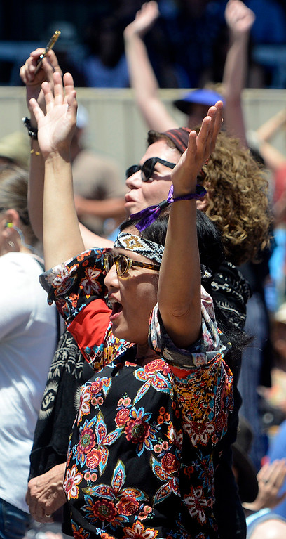 . Fans dance as the Monterey International Pop Festival Celebrates 50 Years at the Monterey County Fairgrounds and Event Center in Monterey on Saturday June 18, 2017. (David Royal - Monterey Herald)