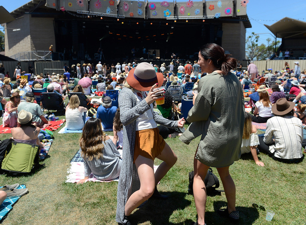 . Abbey McCoy and Alexandra Joseph groove as the Monterey International Pop Festival Celebrates 50 Years at the Monterey County Fairgrounds and Event Center in Monterey on Saturday June 18, 2017. (David Royal - Monterey Herald)