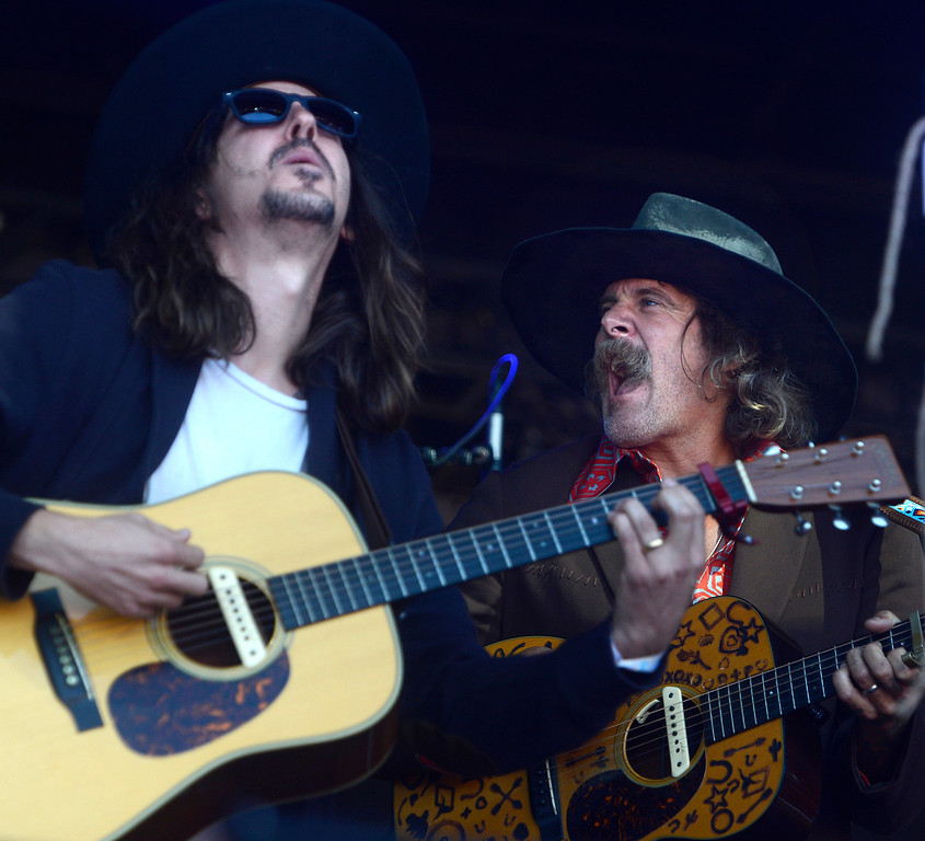 . Cisco Adler and Donovan Frankenreiter jam with Jamtown as the Monterey International Pop Festival Celebrates 50 Years at the Monterey County Fairgrounds and Event Center in Monterey on Saturday June 18, 2017. (David Royal - Monterey Herald)
