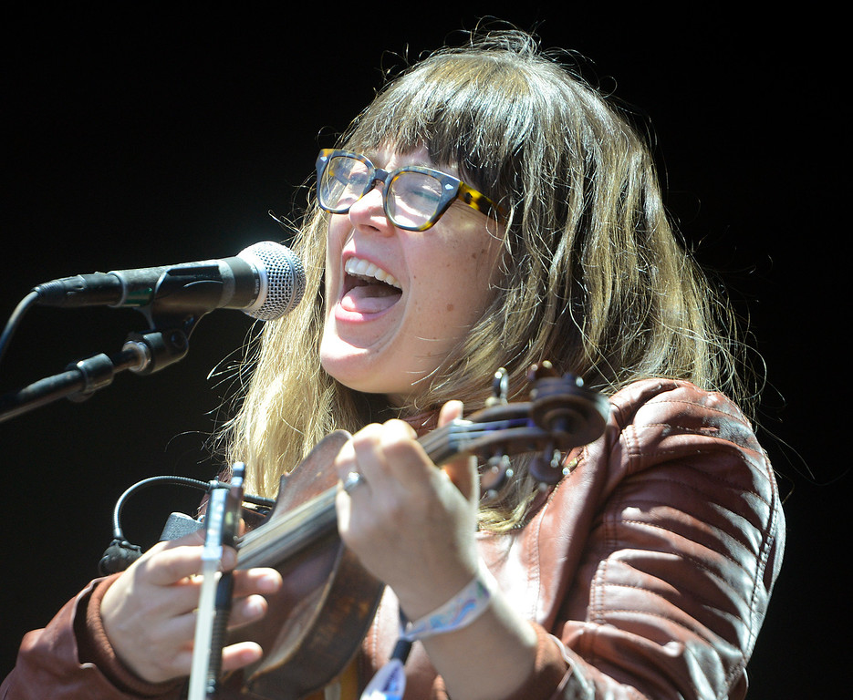 . Sara Watkins opens the Monterey International Pop Festival Celebrates 50 Years at the Monterey County Fairgrounds and Event Center in Monterey on Friday June 16, 2017. (David Royal - Monterey Herald)