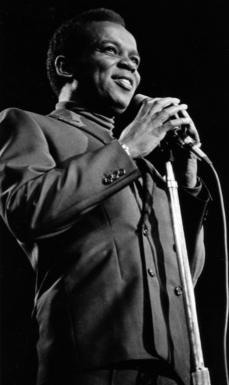 . Lou Rawls performs Friday, June 16, 1967 at the Monterey International Pop Festival.  (Monterey Herald)