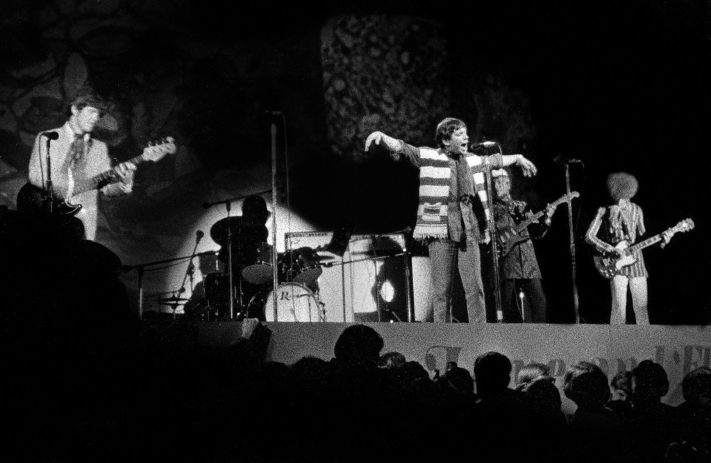 . The Animals, featuring Eric Burdon (singing) perform Friday, June 16, 1967 during the Monterey International Pop Festival.  (Monterey Herald)