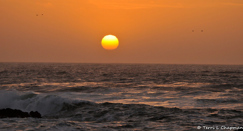 Sunset over Monterey