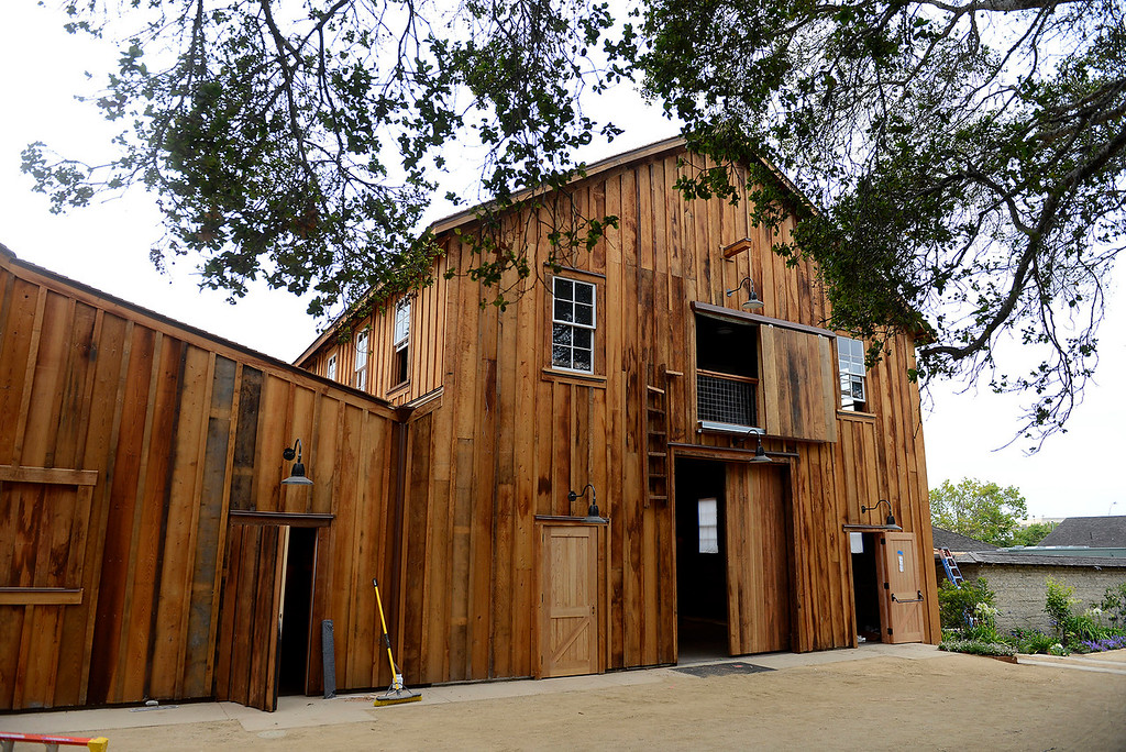 . The refurbished old barn at the Cooper-Molera Adobe in Monterey on Wednesday, June 27, 2018.  Monterey will be celebrating a public reopening of the Cooper-Molera Adobe on Wednesday, July 4, from 12pm-4pm. The public will get a sneak peek at the restoration which is transforming this historic site built in 1827 into a event space for the whole community.  (Vern Fisher - Monterey Herald)