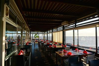 Restaurante Hemingway, Montevideo, Uruguay, close to sunset.