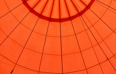 Montgolfiere, ballon, rouge