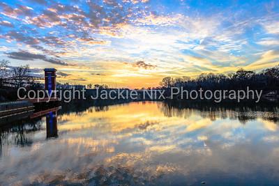 Sunset over the Alabama River