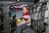 Keegan Darrow/ Fultonville checks out the rear seats in a fire truck