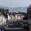 looking from the top of Mount Street towards High Street, Welshpool.