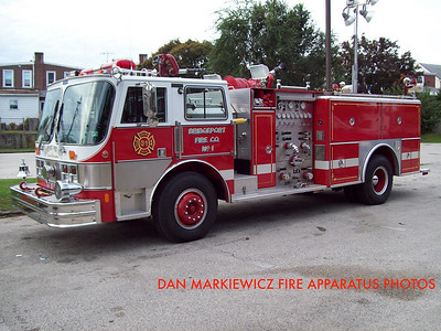 BRIDGEPORT FIRE CO, ENGINE 31 1987 HAHN PUMPER
