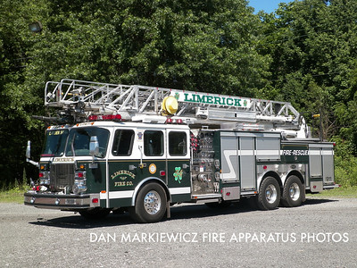 LIMERICK FIRE CO. LADDER 54 2001 E-ONE AERIAL LADDER QUINT