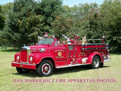 INDIAN VALLEY FIRE ASSN. 1955 MACK PUMPER PRIVATELY OWNED BY SCOTT SEIFERT
