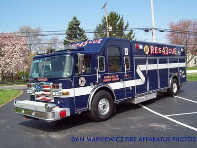 PLYMOUTH FIRE CO. RESCUE 43 2007 PIERCE HEAVY RESCUE
