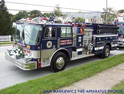 PLYMOUTH FIRE CO. X- ENGINE 43 1987 HAHN PUMPER