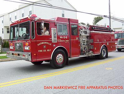 HARMONVILLE FIRE CO. X- ENGINE 44-6 1988 KME PUMPER