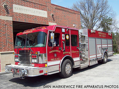 HARMONVILLE FIRE CO. RESCUE 44 2000 SPARTAN/NEW LEXINGTON PUMPER-RESCUE
