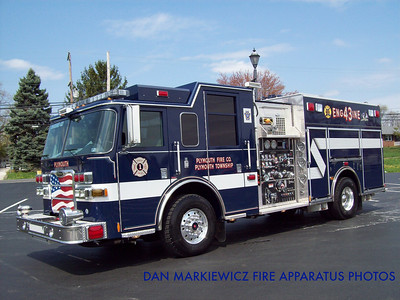 PLYMOUTH FIRE CO. ENGINE 43 2009 PIERCE PUMPER