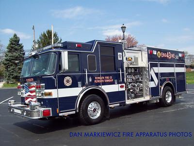 PLYMOUTH FIRE CO. ENGINE 43 2009 PIERCE PUMPER