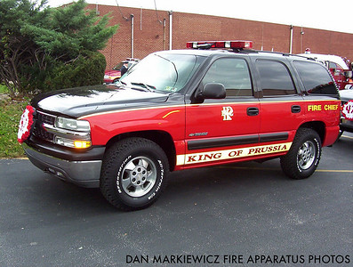 KING OF PRUSSIA VOLUNTEER FIRE CO. CAR 47 2001 CHVY OIC UNIT