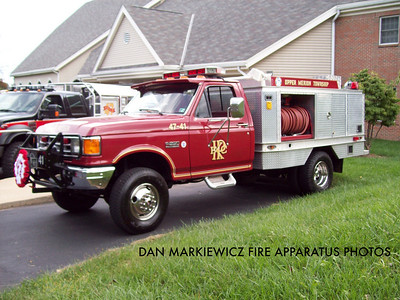 KING OF PRUSSIA VOLUNTEER FIRE CO. X-FIELD 47 1988 FORD/KPFC BRUSH UNIT