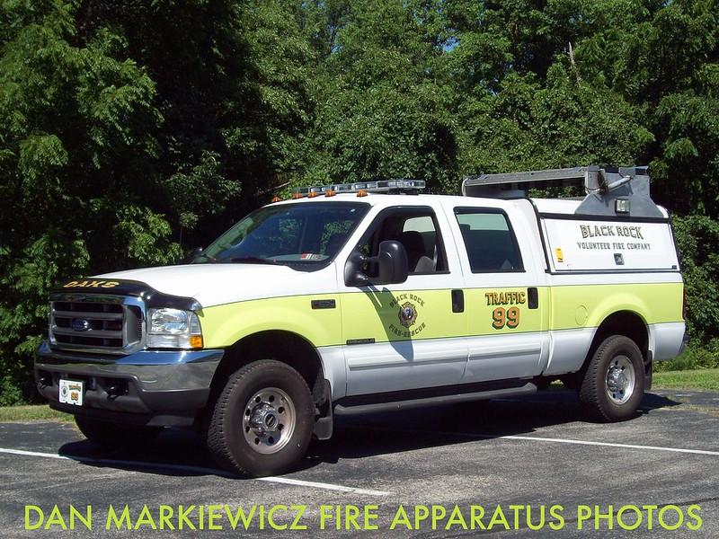 BLACK ROCK FIRE & RESCUE OAKS STATION TRAFFIC 99 2002 FORD/OFC TRAFFIC UNIT