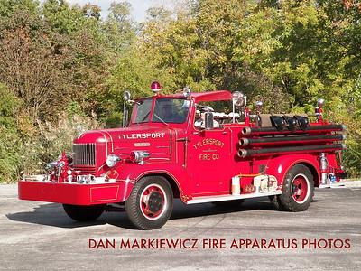 TYLERSPORT FIRE CO. ANTIQUE 1946 HAHN PUMPER