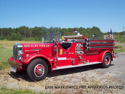 GEORGE CLAY FIRE CO. ANTIQUE 1941 AUTOCAR PUMPER