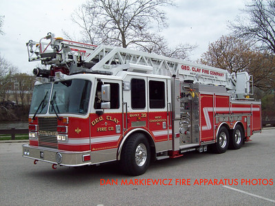 GEORGE CLAY FIRE CO. QUINT 39 2011 KME AERIAL LADDER QUINT
