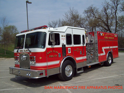 GEORGE CLAY FIRE CO. SQUAD 39-22 2001 KME PUMPER-RESCUE