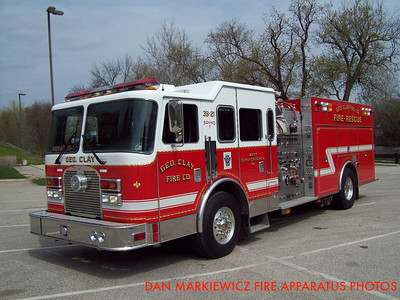 GEORGE CLAY FIRE CO. SQUAD 39-21 2001 KME PUMPER-RESCUE