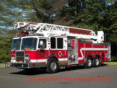 WORCESTER TWP. FIRE DEPT. LADDER 83 2009 KME AERIAL LADDER QUINT