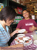 Tiana in town! Enjoying tiramisu at D'Amico's after a nice [and reasonably-priced!] lunch in Rice Village.