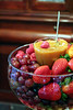 It was my pleasure to help emcee / host / photograph Annie's baby shower. Here's Stella's delectable creation: fruit bowl with caramel fruit dip. Drool~!!