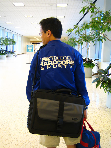 The bro leaves Houston to go back to Toledo. This is his company jacket.