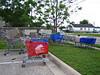 A shopping cart cemetery.