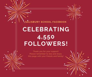 Facebook celebrating 4550 followers