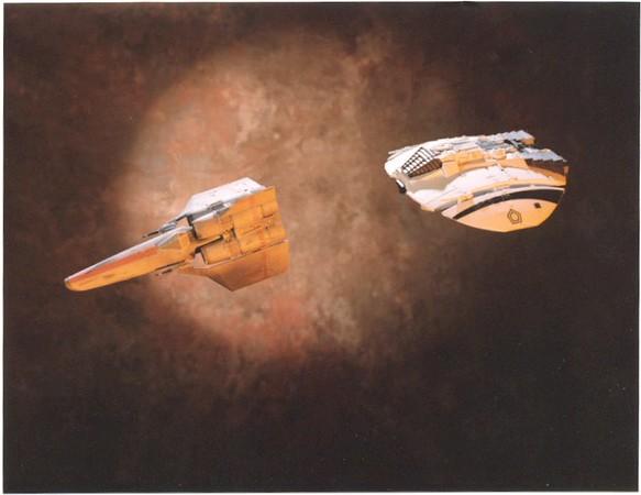cylon chasing viper