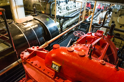Engine Room, Turbines for Queen Mary