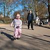 Running through the park