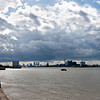 View towards Canary Wharf from Woolwich