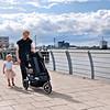 Walking along the Thames near Woolwich