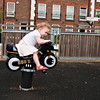 Bethan likes riding on the motorbike