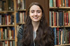 WVU Fulbright Scholar Zoe Dobler  poses for a photo in the WV Collection Downtown library April 25, 2018. Photo Greg Ellis
