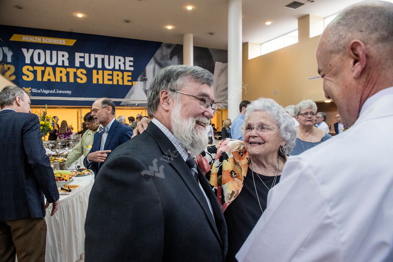 The Health Sciences Center hosts an investiture ceremony in the Pylons Lobby as Larry A. Rhodes, M.D. is named the James H. Walker, M.D. Chair in Pediatric Cardiology in the WVU School of Medicine April 2nd, 2018.  Photo Brian Persinger