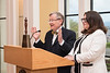 WVU faculty and staff and guests participate in the faculty staff awards hosted by WVU President E. Gordon Gee and Provst Joyce McConnell, at Blaney House April 25, 2018. Photo Greg Ellis