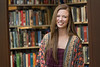 WVU Fulbright Scholar Vanessa Grapes poses for a photos in the WV Collection Downtown library April 25, 2018. Photo Greg Ellis