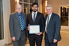 Chemical Engineering student Hassan H. Khajah was awarded with a scholarship for his outstanding academic achievements. Chemical and biomedical engineering students and new academy members attended the Academy Induction Banquet at the Morgantown Holiday Inn on April 5, 2019.